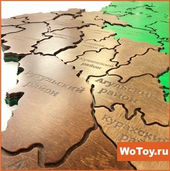 Карта из дерева на стену