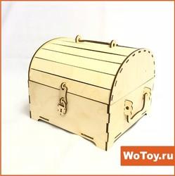 Деревянная упаковка для подарков сундучок