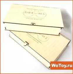 Шкатулка из фанеры деревянная упаковка