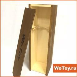 Подарочная деревянная коробка для бутылок