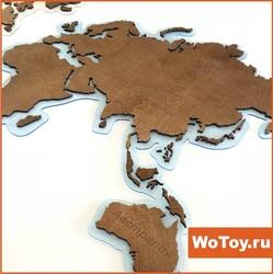 Подарочная карта мира из дерева