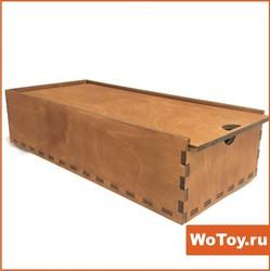 Ящик из фанеры под подарки окрашенный