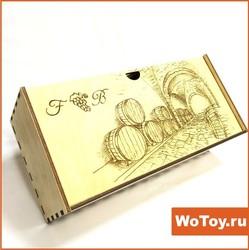 Деревянная подарочная коробка с лазерной гравировкой