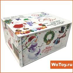 Деревянная упаковка с Новым Годом - VIP (УФ печать)