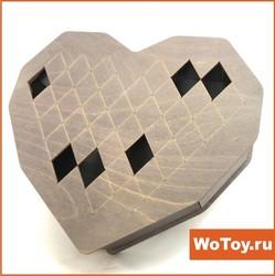 Сувенирная упаковка из фанеры - Сердце