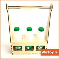 Сувенирный ящик под бутылки подарочный