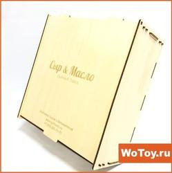 Декоративная коробочка из фанеры с крышкой под подарочную продукцию