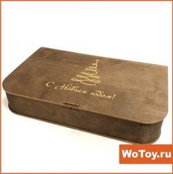 Откидной ящик для подарков с пружинной лазерной резкой