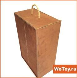 Упаковка фанерная под подарок с отделением под бутылку
