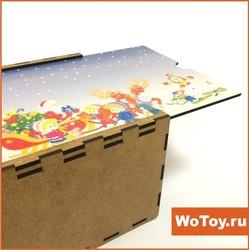 Новогодняя упаковка из ЛХДФ с УФ печатью