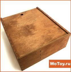 Подарочная коробка С НОВЫМ ГОДОМ из фанеры под шампанское и конфеты