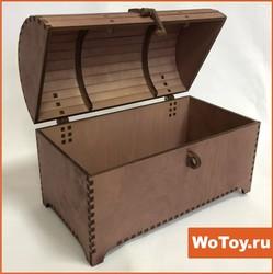 Упаковка из дерева шкатулка из фанеры с крышкой