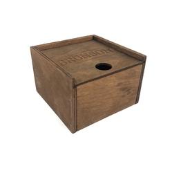 Коробочка из фанеры подарочная с крышкой пенал с пазами