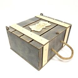 Новогодний сундучок из фанеры, идеальная деревянная упаковка под подарки